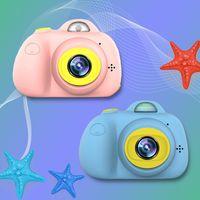 D6 Kinder Kamera Spielzeug Mini-Digitalkamera-Kind-Spielzeug Unterstützung 32GB TF-Karte Fotografie vorne und hinten 3264x2448 8 Millionen
