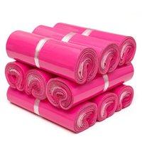 Sacchetti di corridore in plastica impermeabili rosa sacchetti di stoccaggio autoadesivo sacchetto di stoccaggio opaco materiale busta mailing mailing packaging di trasporto