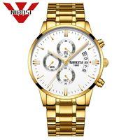 NIBOSI reloj de oro superior de la marca de lujo relojes de los hombres a prueba de agua reloj del cuarzo del Relogio Masculino hombre de negocios reloj Relojes Mannen