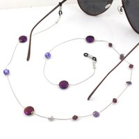 Purple Ethnic Acrylic Crystal  Link Chain Eyeglasses Chains Glasses Rope Holder Sunglasses Strap Cord Neck Band Accessories