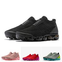 2018 Chaussures Moc 2 Laceless 2.0 Laufschuhe Triple Black 2019 Designer Herren Damen Sneakers Fly Weiß stricken Sport Trainer Zapatos Vapormax vapor max nike air