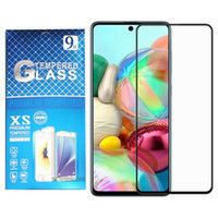 Protecteur d'écran de couverture en verre trempé en verre noir pour Samsung A72 A52 A32 4G A22 5G A12 A02S S20 Fe A71 A51 A31 A21 A11 A01 A21S T-Mobile Revvvl 4+
