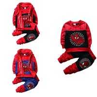 New Boy Kids Set di abbigliamento Spiderman Set 3 pezzi T-shirt + pantaloni + gilet cappotto Primavera Autunno Fashion Design100% cotone