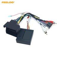 FEELELO CAR STEREO AUDIO 16PIN Android Power Cable адаптер с коробкой CANBUS для BMW X1 E90 проводки кабеля питания # 3325
