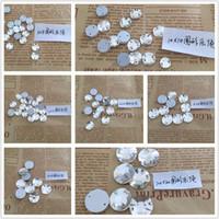 Çeşitli Boyut Yuvarlak Çiçek Şeffaf Beyaz Renk diker On Taş Kristal Taşlar Dikiş Rhinestone İçin Gelinlik İçin DIY Giyim Craft