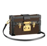 Дизайнер плечо коробка сумки Сумки вечерние сумки кожа мода коробка сцепления кирпич известный Посланник плечо M44199 PETITE MALLE сумка