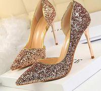 Fashion2020 femmes pompes extrêmes sexy talons hauts femmes chaussures minces talons féminin chaussures mariage ralon or blanc dames