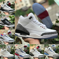 2020 Nike Air Jordan 3 Shoes Air max michael jordans retro  Jumpman JSP 3M TINKER SP BLACK CEMENT UNC Blau PE Mokka Katrina Sports Turnschuhe