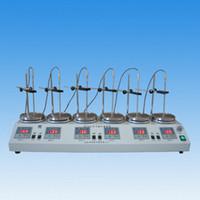 6 Birim Dijital Ekran Termostatik Kontrol Laboratuarı Manyetik Karıştırıcı Mikser HJ-6A RT.-100C 0-2400RPM