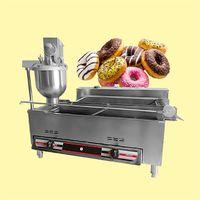 الغاز الكهربائي التدفئة مضاعفة التلقائي دونات القلي صنع آلة / صانع دونات / الكعك القلي آلة / ماكينة دونات