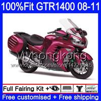 Injectie Mold Pearl Red Light Lichaam voor Kawasaki GTR1400 08 09 10 11 255HM.22 GTR-1400 08 11 GTR 1400 2009 2009 2010 2011 Verkleefkit