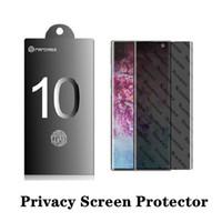 لسامسونج غالاكسي ملاحظة 10 S10 S9 الخصوصية حامي الشاشة هيدروجيل التغطية الكاملة لينة واقية السينمائي لسامسونج S10 زائد مع صندوق البيع بالتجزئة