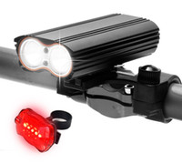 Luz delantera de la bicicleta USB recargable T6 LED linterna linterna antorcha Ciclismo lámpara con luces traseras de seguridad accesorios de bicicleta