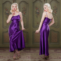 Purple Bridal Bathrobe Sleepwear Nightgown Ruffles Party Bat...