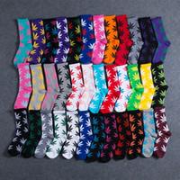 Мужские дизайнерские хлопковые носки для мужчин Женщины 44 Цвета Рождественские stringlife Высокое Качество Скейтборд Хипшоп Кленовый Лист Спортивный Носок