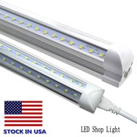 8FT LED Shop Luminaria 72W 6000K Blanco Forma de V 8ft 6ft 5ft 4ft 3ft 2ft 1ft T8 Luces de enfriador de tubo integradas