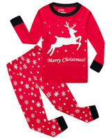 Retail boys girls Christmas outfits 2pcs suit set(snowflake ...