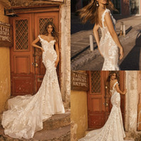 Berta 2019 Mermaid Wedding Dresses Off Shoulder Lace 3D Flor...