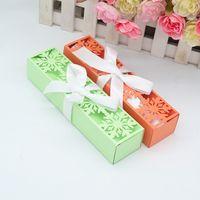 7inch cajas de invitación de la boda de corte por láser de alta calidad copos de nieve