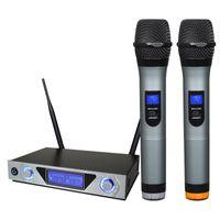 KTV المزدوج UHF المحمولة ميكروفون لاسلكي MU-868 المهنية ميكروفون ديناميكي للمسرح منزلي رئيس السلطة خالط الصوت مكبر للصوت DJ