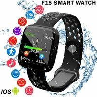 F15 Smart-Armband GPS-Blutdruck-Blut-Sauerstoff-Puls-Monitor-Smart Watch IP68 Fitness Tracker intelligente Armbanduhr für Android iPhone