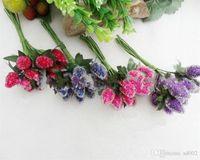 Simülasyon Çilek Meyve Yapay Köpük Inci Dut DIY Manuel Yaprak Düğün Dekorasyon Ile Sahte Çiçek Kırmızı Mor 17 5la C1