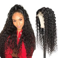 Full Lace Wigs Human Hair With Baby Hair Water Wave Lace Fro...