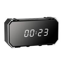 Gece Görüş Ev Elektronik Saat PQ534 ile 4K 4096 * 2160p uzaktan kablosuz WiFi Çalar Saat kamera Kablosuz Ayna Güvenlik Çalar Saat Kamera