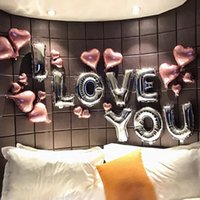 Rose Gold I love You Balloons Inflatable Foil Balloon Weddin...