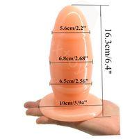 야구 모양 애널 장난감, 최대 직경 6.8cm 애널 플러그 큰 의료 PVC 소재 대형 엉덩이 플러그, 게이 애널 볼 섹스 토이.