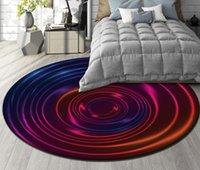 viola piano terra Wallpaper murale 3D stereoscopico personalizzato Pavimentazione moderna Nordic astratta colorato vortice tappetino