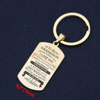 For Grandson Keychain Hand Stamped Yourself Through My Eyes ...