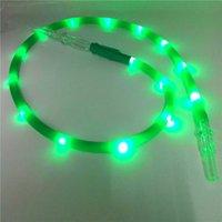 colore del LED colpisce di nuovo arrivo Cinque torcia silicone Hookah Shisha tubo di accessori per tubi per fumatori con acrilico Bocchino