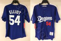 Günstige Mr. Baseball Jack Elliot Chunichi Drachen Film Baseball Jersey Herren Genähte Trikots Shirts Größe S-XXXL Freies Verschiffen