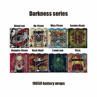 Nouveau Darkness Series 18650 Batterie Wraps PVC peau autocollant Vaper Wrapper Cover Sleeve Rétractable Wrap Heat Shrink