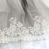 Vendita di yard Bianco Francese Bridal Veil Ricamo Tessuto di pizzo Trim Abito da sposa Eyelashes Accessori da cucito in pizzo LT04