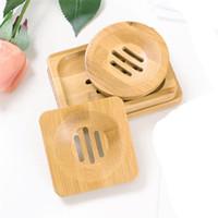 Doğal Bambu Sabun Yemekleri Tepsi Tutucu Depolama Sabunluk Plaka Kutusu Konteyner Taşınabilir Banyo Sabunluk JK2006XB