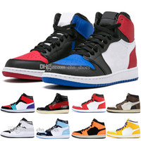 1 High OG Travis Scotts Basketball shoes Spiderman UNC 1s to...