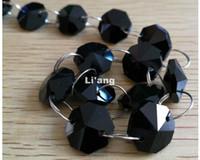 Libero Colore nero di trasporto 10M 14 millimetri Octagon catena festa di nozze di cristallo K9 Strand ghirlanda decorazione di perline Lampada lampadario