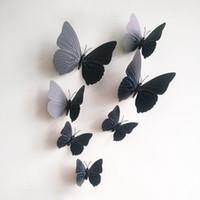 Yepyeni 12pcs 3D PVC Manyetik DIY Kelebekler Ana Odası Duvar Sticker Dekor Çift Yan Tutkal dolabı Magnet Ücretsiz Kargo 1