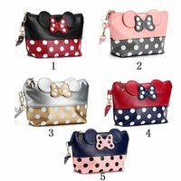 5color Hot sell Mouse cute clutch bag bowknot makeup bag cos...
