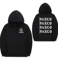 I Feel Like Pablo Street Hoodie Sweatshirts Brief DruckHoodie Verein Hip Hop Hoodies Männer 5 Farben