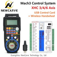 Mach3 Controller XHC MKX-V 3 4 6AXIS USB Motion Control Card Breakout Board met WHB04B Draadloze MPG Hanger Handwiel NewCarve