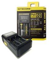 NITECORE D2 New I2 LCD Digicharger Universal Inteligente Carregador Para Li-ion bateria Ni-MH com pacote de varejo