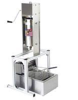 Gıda İşleme Ticari İspanyolca 5L Churros Yapma Makinesi 6L Elektrikli Litre Derin Fritöz
