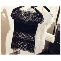 Quality Good Women Tops Lace Sexy Vest Clothing Short Sleeve...