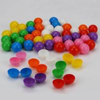 38mm Vazio Brinquedo de Plástico Vending Capsule Colorido Cápsula Bola Presente Do Festival de Festa de Contêiner de Doces Decoração QW9985