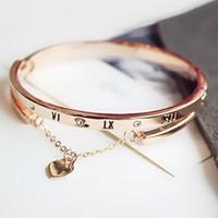 Горячая розовое золото из нержавеющей стали браслеты браслетов женского сердца навсегда любовь Марка браслет для женщин Известных ювелирных изделий