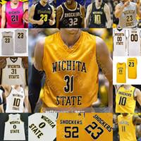 Custom Wichita State Basketball Jersey NCAA College Dexter Dennis Erik Stevenson Trey Wade Grant Sherfield Tyson Etienne Burton Morris Udeze