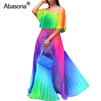 Abasona Hush Chiffon Women Summer Long Beach Dress Boho Grad...